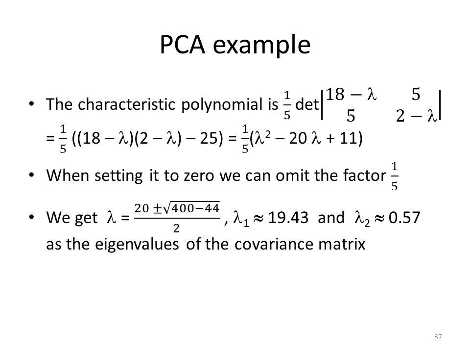 PCA example 37
