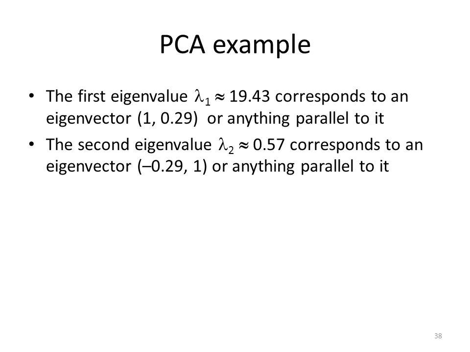PCA example 38
