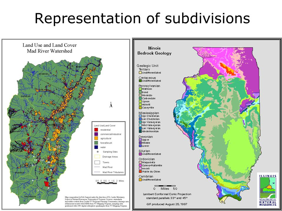 Representation of subdivisions