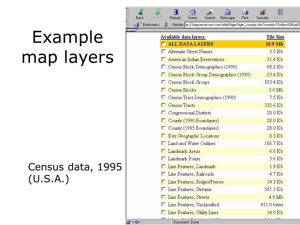 Elevation models (Elevation) grid 21 20 19 20 15 10 25 Contour line model Triangulation (TIN; triangulated irregular network) RasterVector