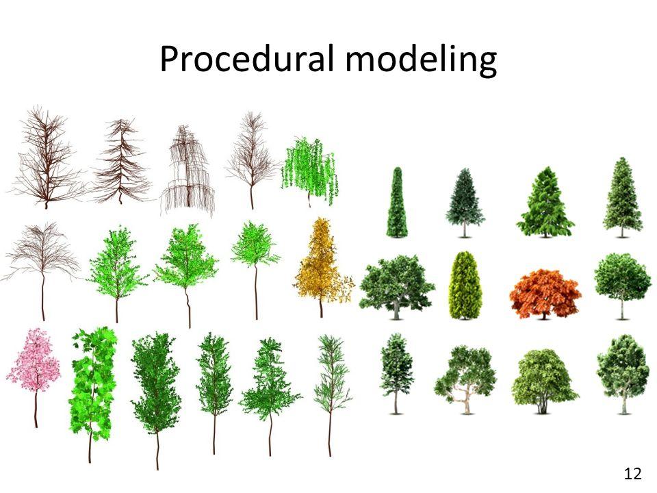 Procedural modeling 12