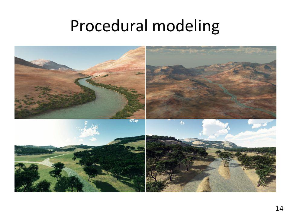 Procedural modeling 14