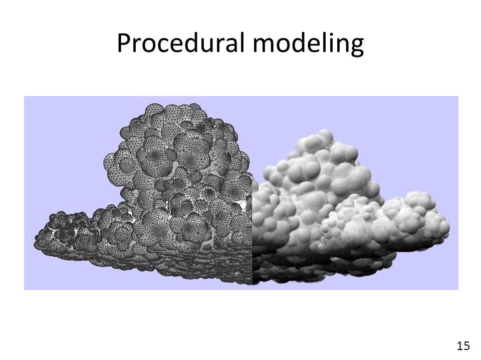 Procedural modeling 15