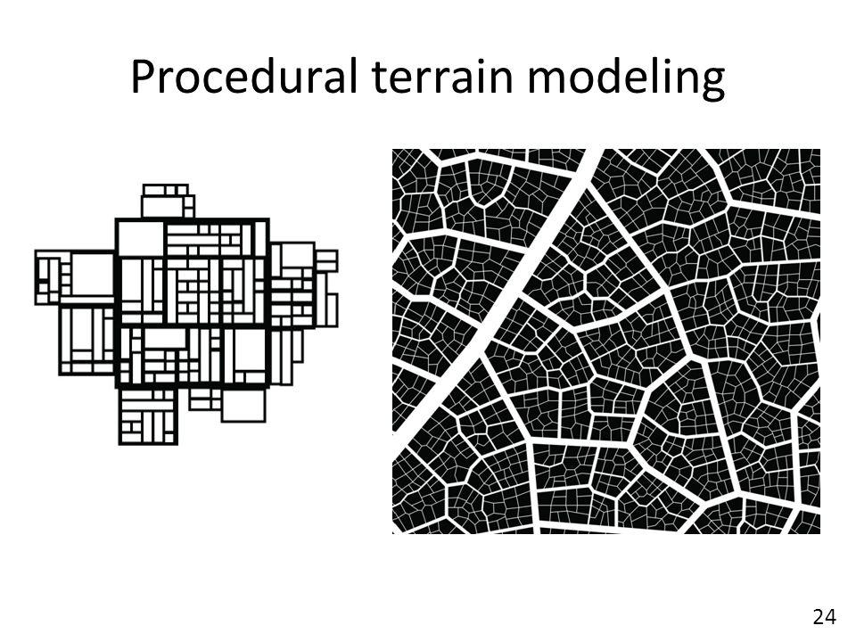 Procedural terrain modeling 24