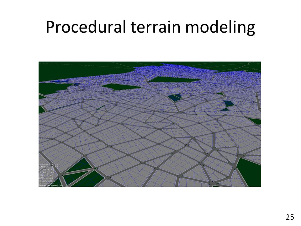 Procedural terrain modeling 25