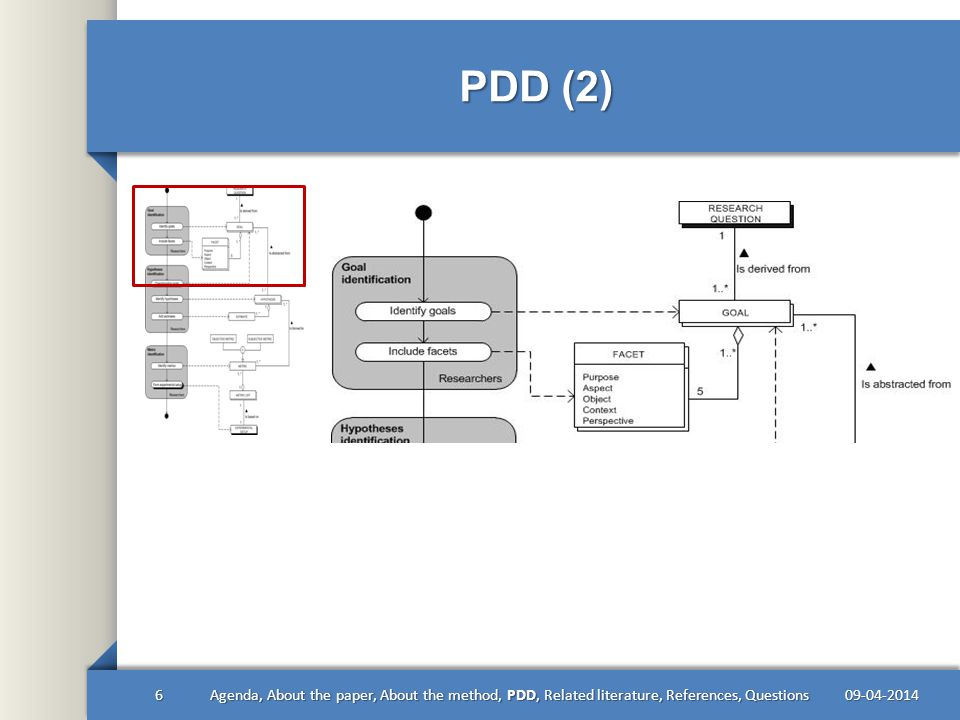 PDD (3) 09-04-20147Agenda, About the paper, About the method, PDD, Related literature, References, Questions