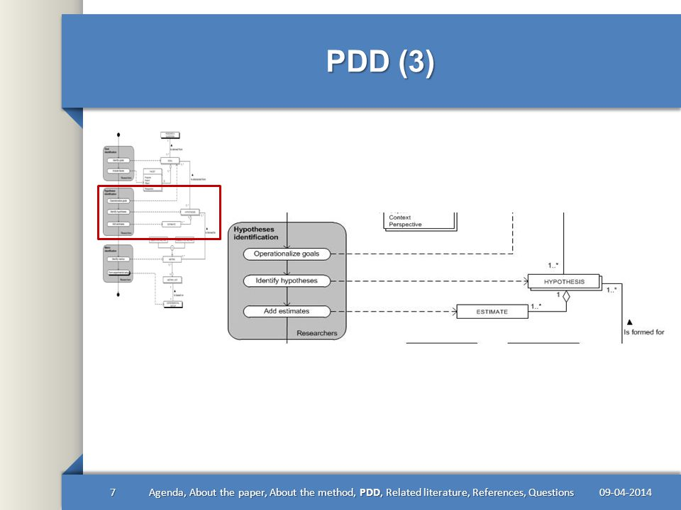 PDD (4) 09-04-20148Agenda, About the paper, About the method, PDD, Related literature, References, Questions