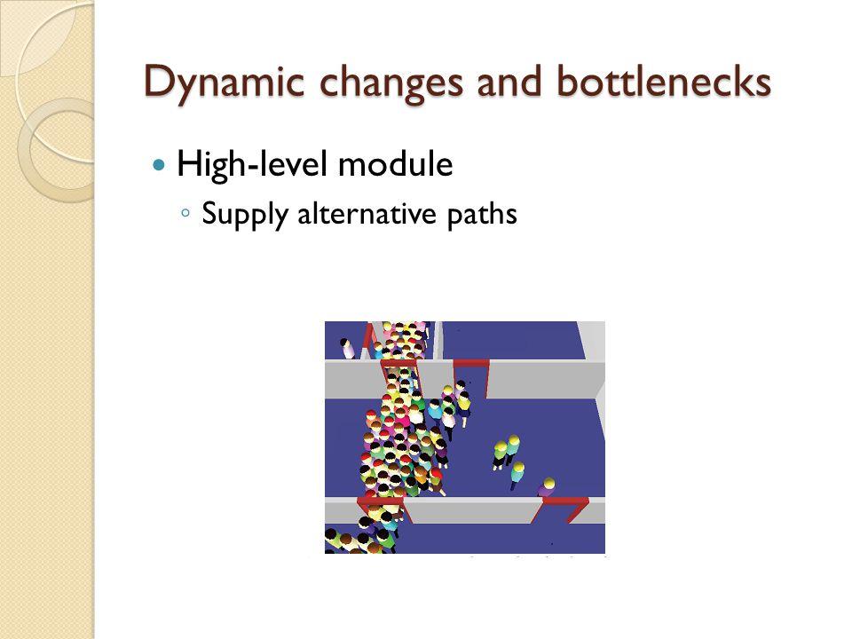 Dynamic changes and bottlenecks High-level module ◦ Supply alternative paths