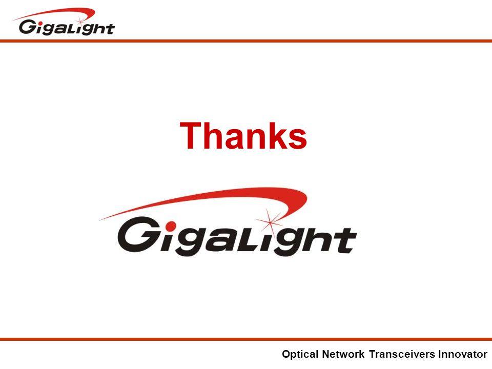 Optical Network Transceivers Innovator Thanks