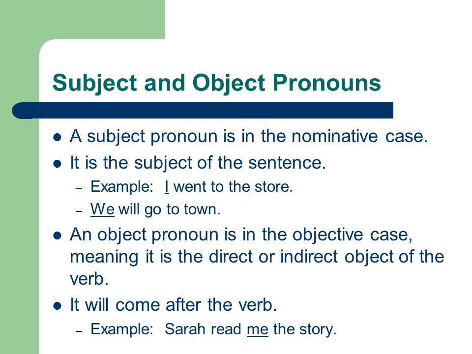 Pronouns and Antecedents The word or group of words a pronoun refers to is known as the antecedent.