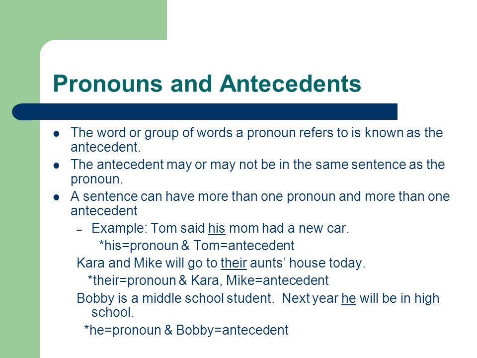 Possessive Pronouns Same as a possessive nouns, a possessive pronoun shows ownership.