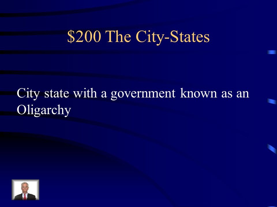 $100 The City-States What is the Polis