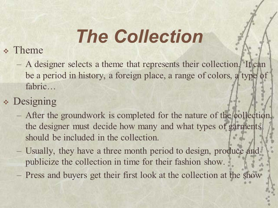 Fashion Cycle  The introduction, Rise, Culmination, Decline, and Obsolescence of a given style over a period of time.