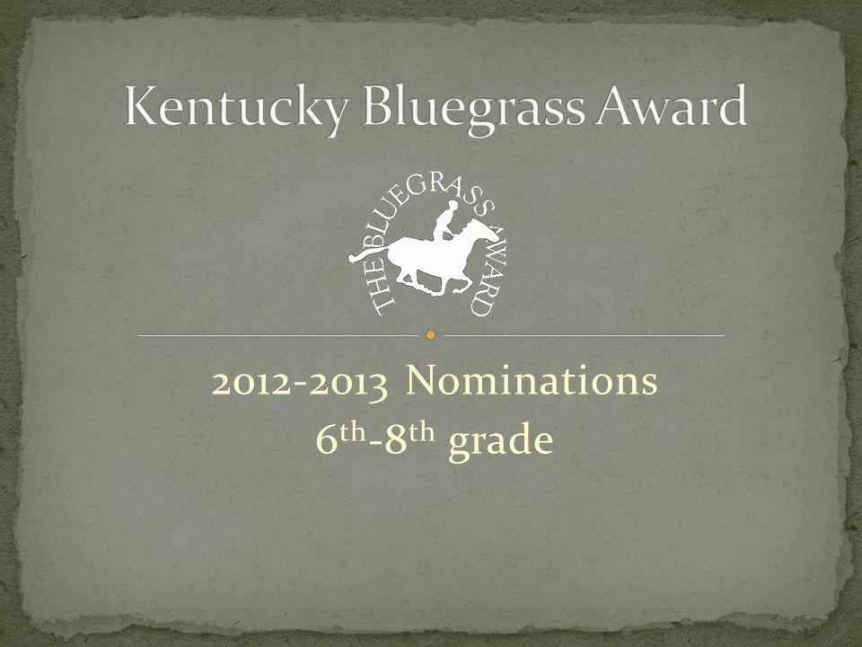 2012-2013 Nominations 6 th -8 th grade