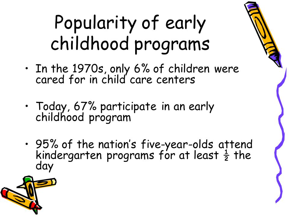 Social and Economic Changes Various changes will affect the need for and structure of child care services.