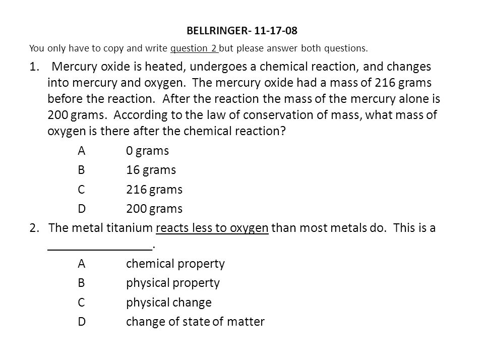 Law of conservation of mass http://www.brainpop.com/science/matterand chemistry/conservationofmass/preview.weml http://www.brainpop.com/science/matterand chemistry/conservationofmass/preview.weml Law of conservation of mass