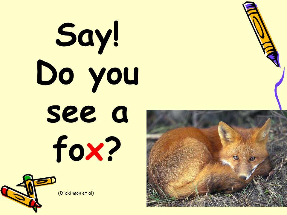 Say! Do you see a fox? (Dickinson et al)