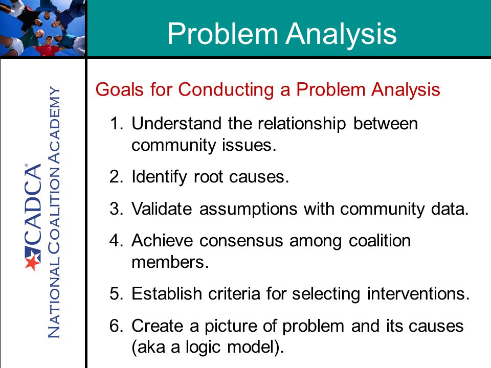 National Coalition Academy Problem Analysis 1.Understand the relationship between community issues.