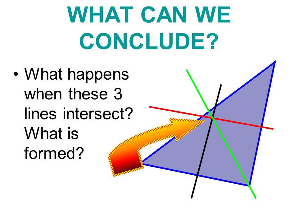 Perpendicular Bisectors The perpendicular bisectors of a triangle ____________ at a single __________.