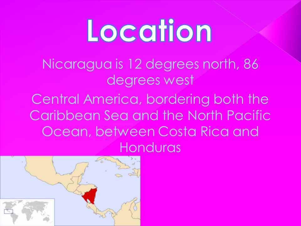 NNicaragua Geography consists of mountains, volcanoes, rivers and sea.