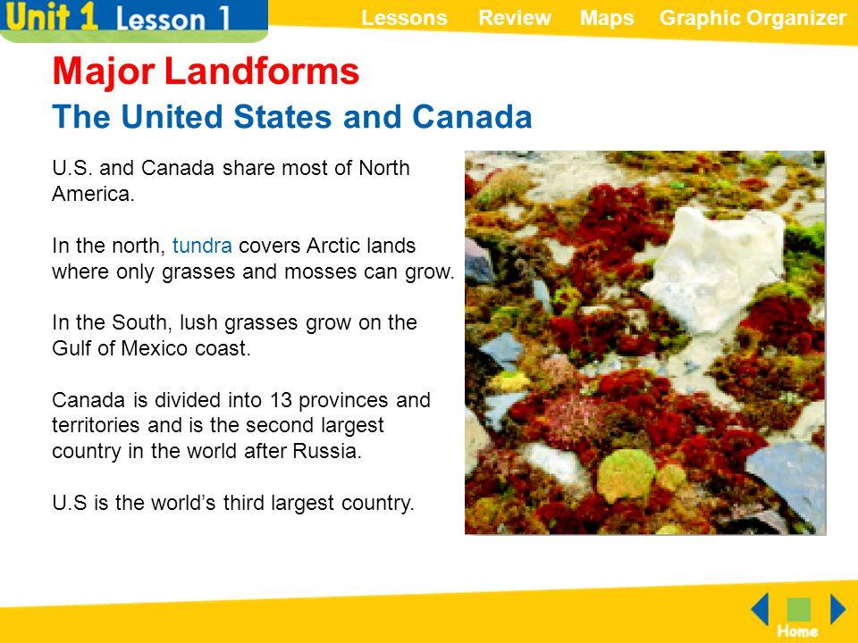ReviewMapsGraphic OrganizerLessons Lowlands and Highlands Major Landforms The Atlantic Coastal Plain runs along the coast of the Atlantic Ocean.