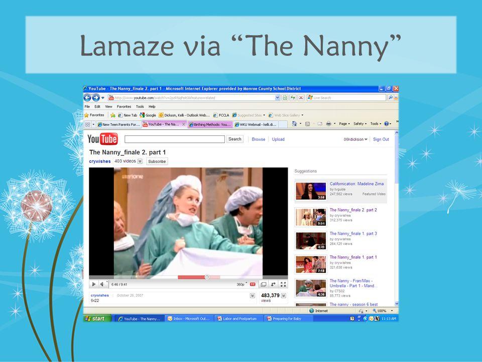 """Lamaze via """"The Nanny"""""""