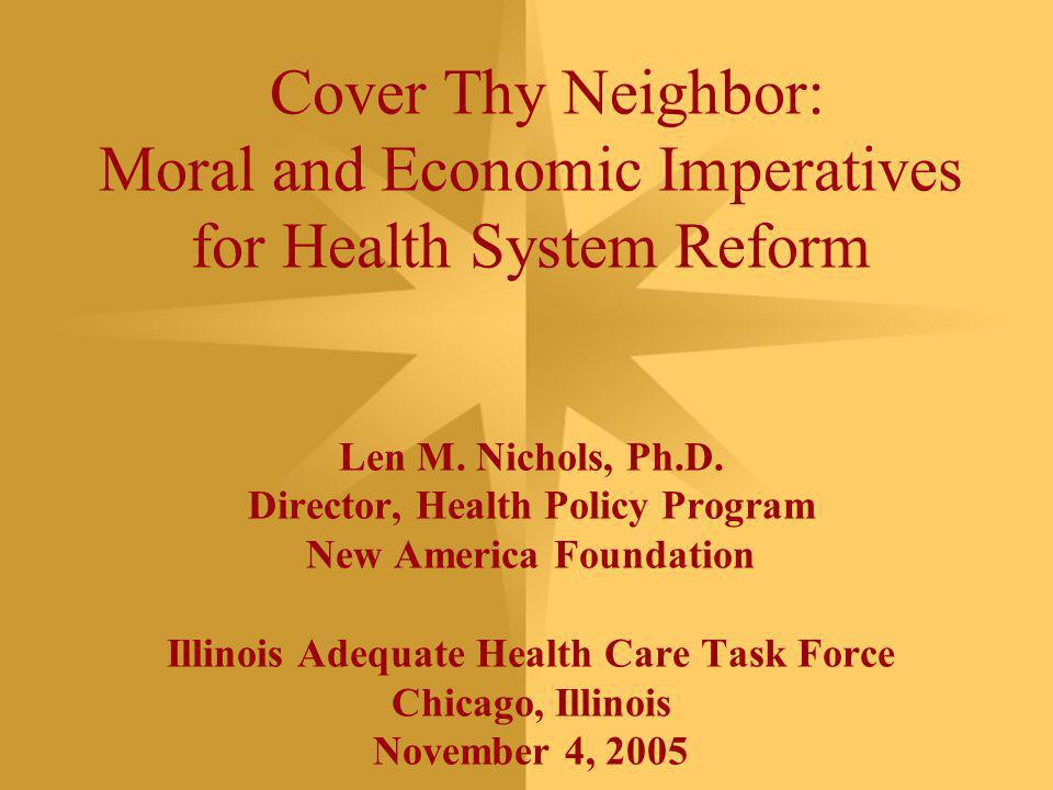 2 Overview Linked problems of our health care system Why incremental reforms can't work Pathways to comprehensive reform