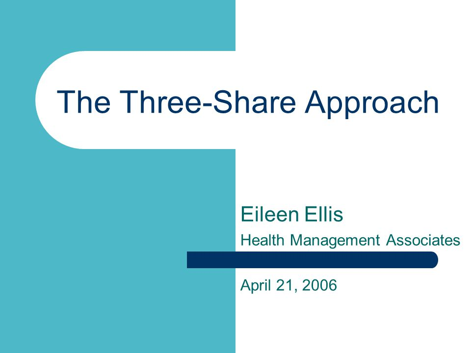 The Three-Share Approach Eileen Ellis Health Management Associates April 21, 2006