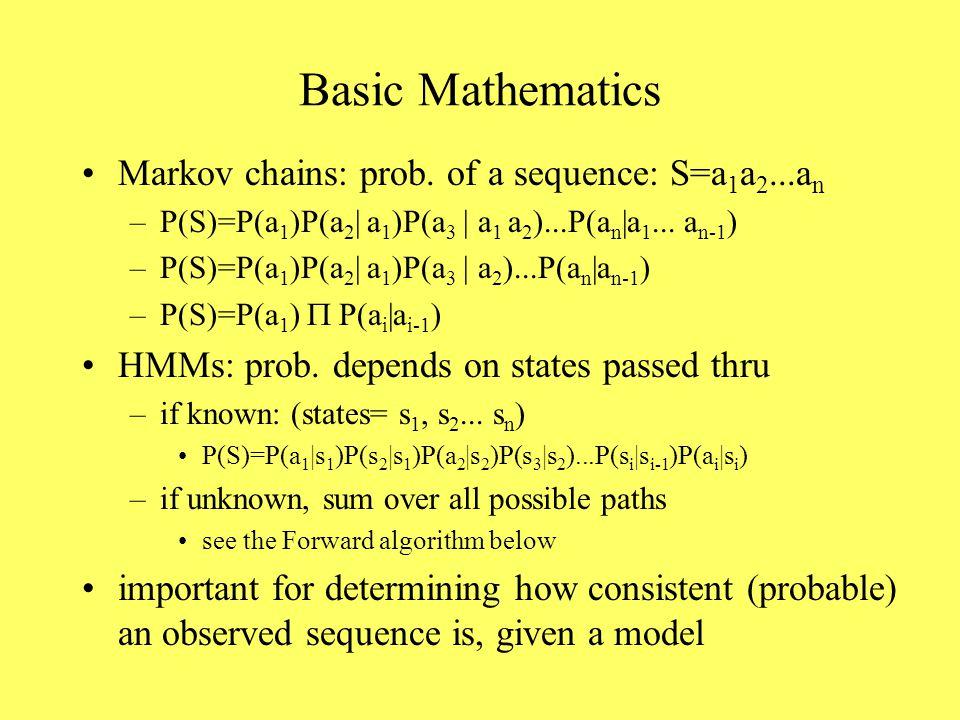 Basic Mathematics Markov chains: prob.