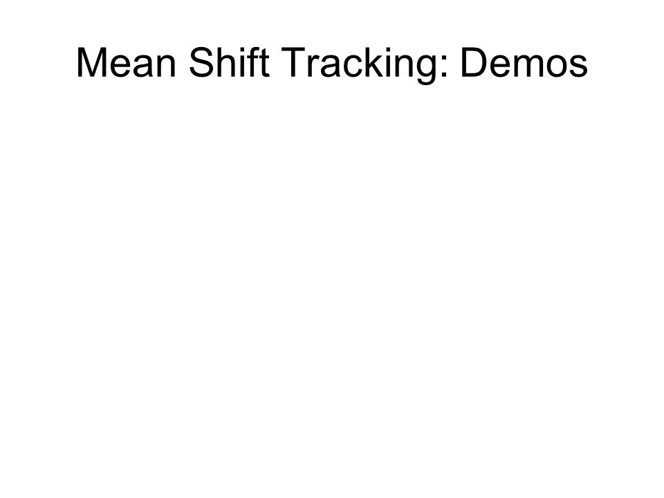 Mean Shift Tracking: Demos