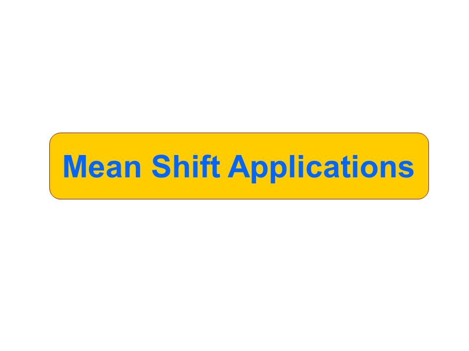 Mean Shift Applications