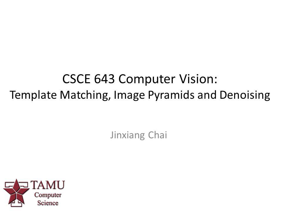 CSCE 643 Computer Vision: Template Matching, Image Pyramids and Denoising Jinxiang Chai