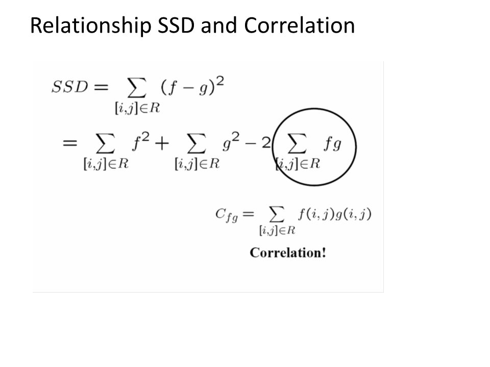 Relationship SSD and Correlation