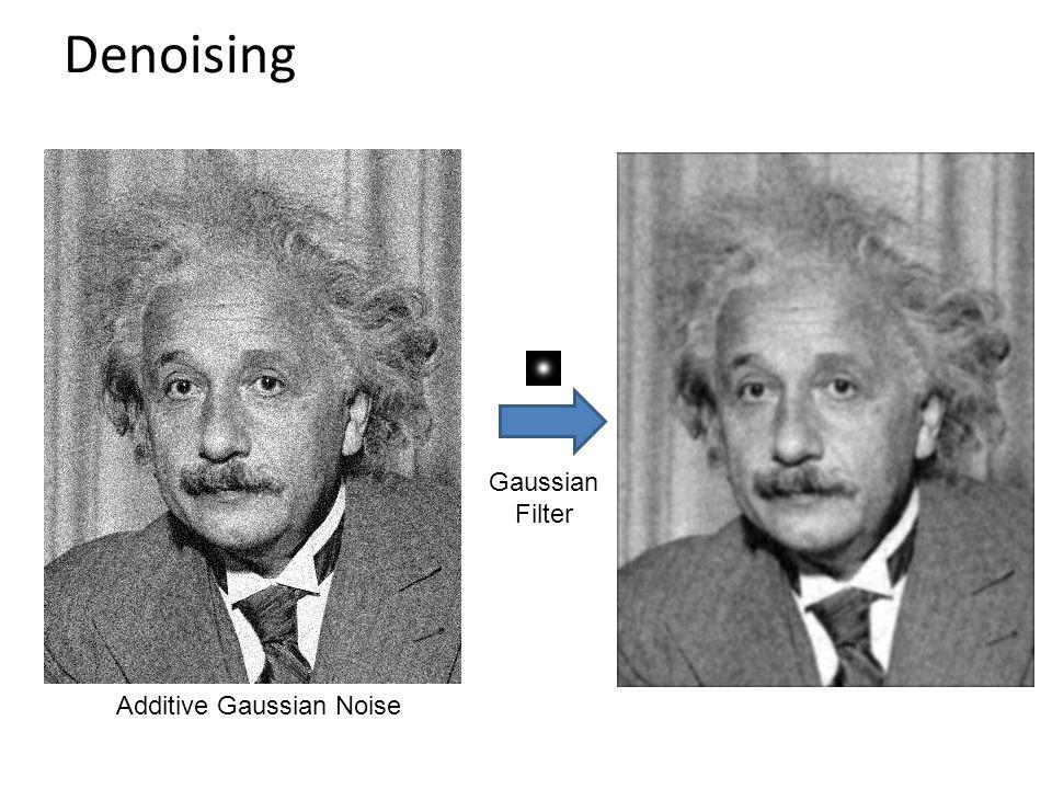 Denoising Additive Gaussian Noise Gaussian Filter