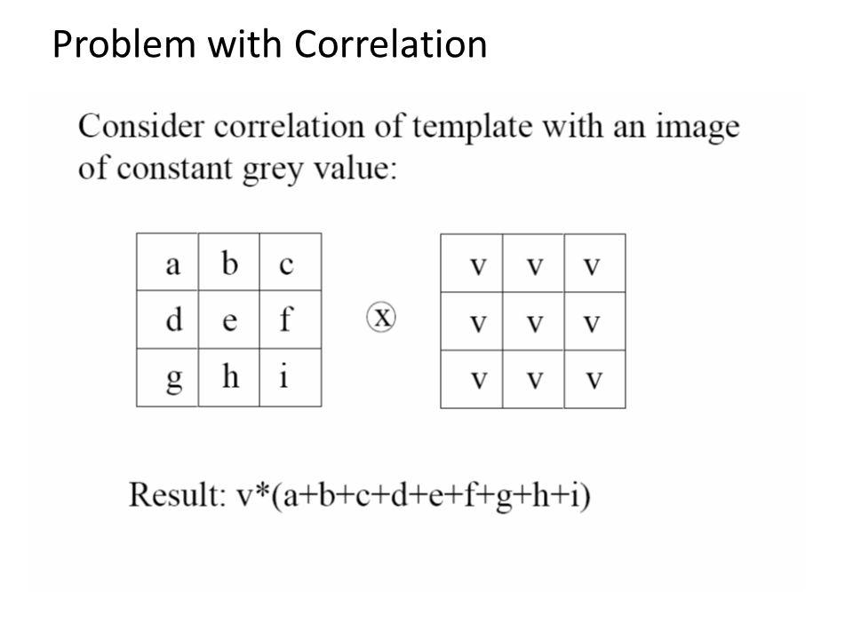 Problem with Correlation