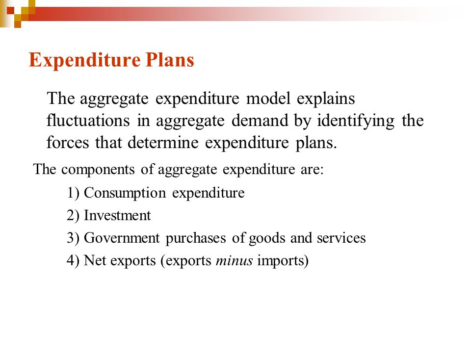 Expenditure Plans The main factors that influence consumption and saving are: 1) Real interest rate 2) Disposable income 3) Purchasing power of net assets 4) Expected future income