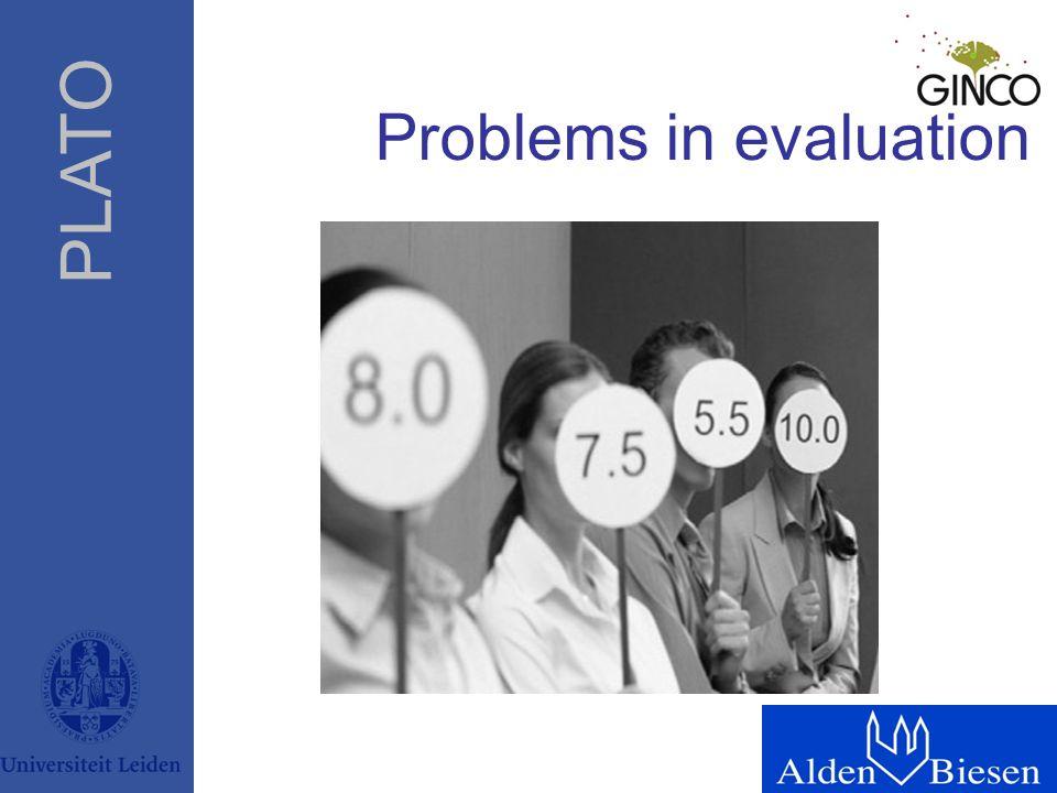 PLATO Problems in evaluation