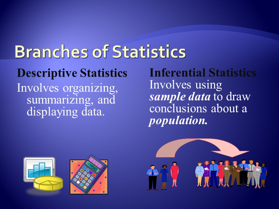 Descriptive Statistics Involves organizing, summarizing, and displaying data.