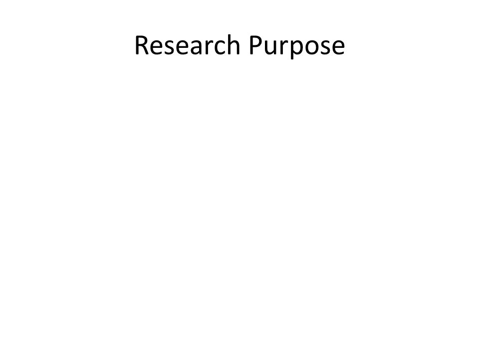 Research Purpose