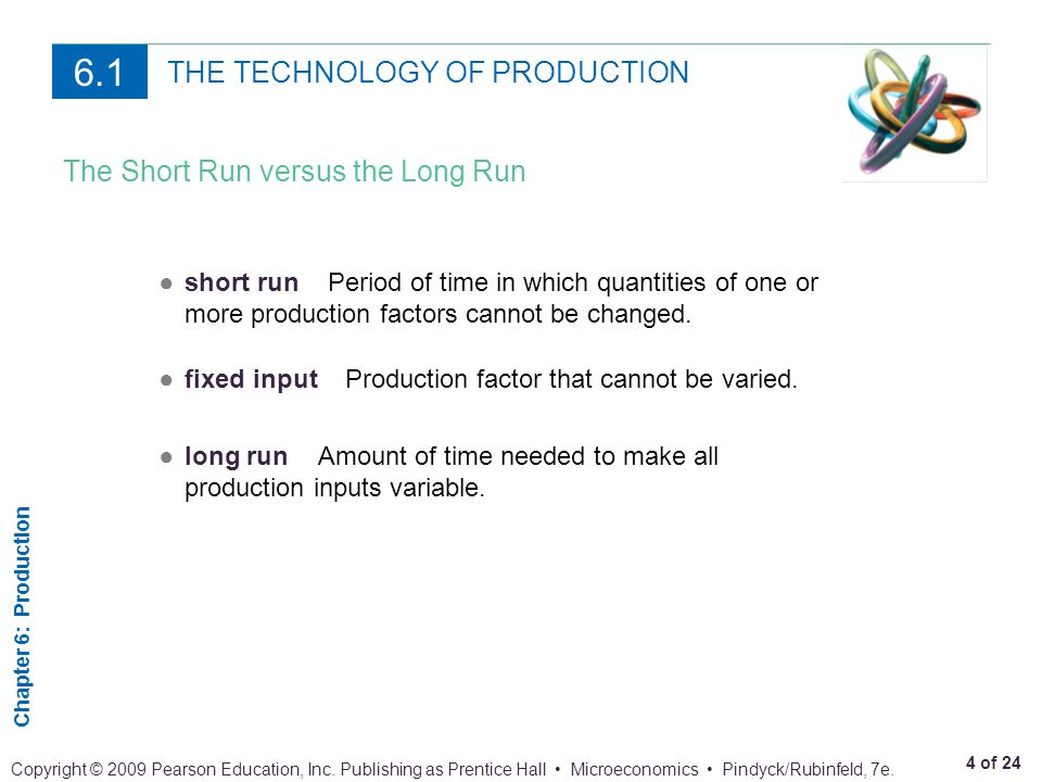 Chapter 6: Production 5 of 24 Copyright © 2009 Pearson Education, Inc.