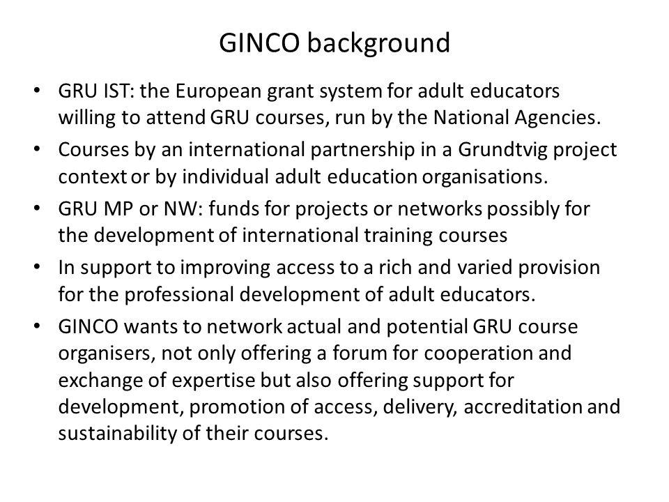 GINCO conference: Hasselt, 26 – 29 Sept.2012 SEALLL/VIP course: Ancona, 08 – 13 Oct.