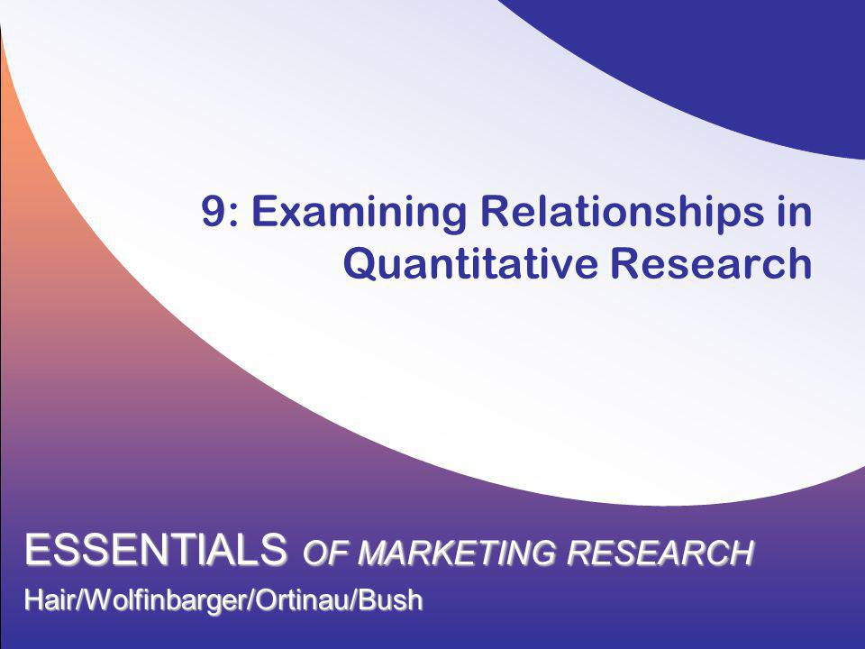 9: Examining Relationships in Quantitative Research ESSENTIALS OF MARKETING RESEARCH Hair/Wolfinbarger/Ortinau/Bush