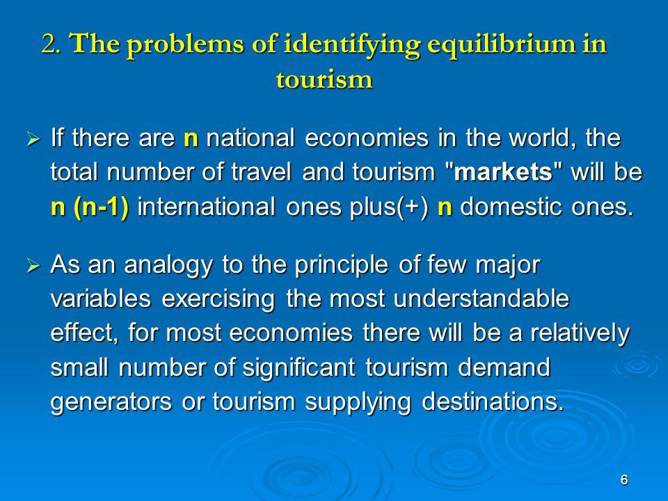 17 Figure 4.3 Effect of Taxation on equilibrium in tourism market D S 1 /S D S 1 /S Quantity Price 0 QeQtQF S D1D1D1D1 S1S1S1S1 Ps Pe Pt