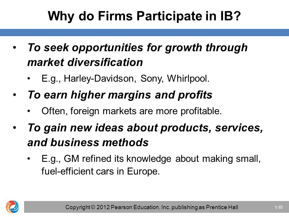 Why do Firms Participate in IB.