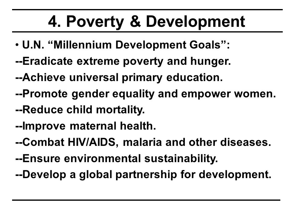 4. Poverty & Development U.N.