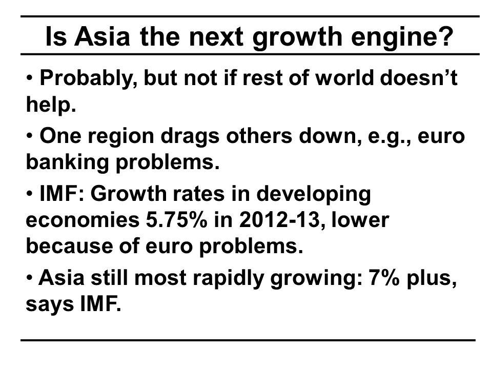 Global economy is slowing Source: World Bank, January 2012