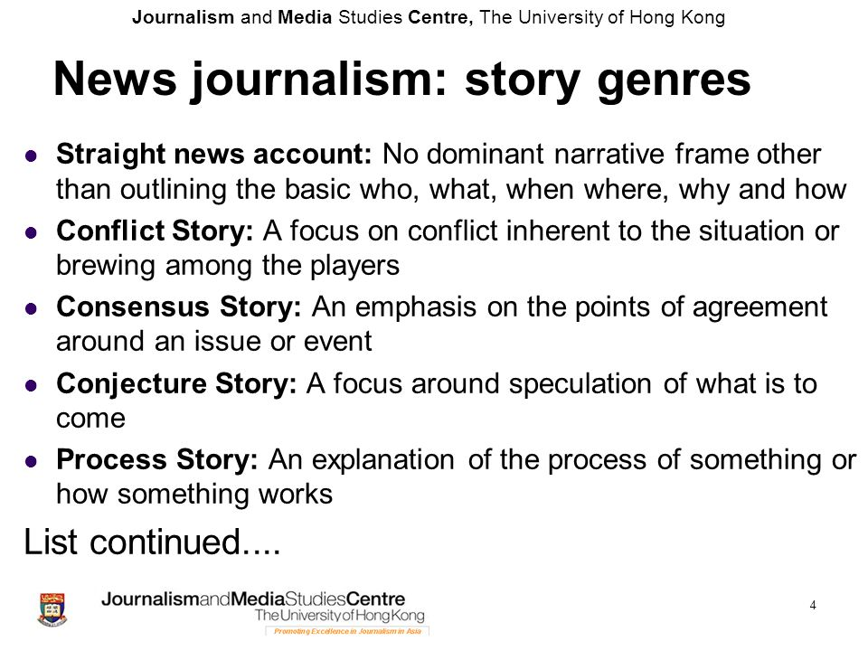 Journalism and Media Studies Centre, The University of Hong Kong 25 Criticisms of objectivity 1.