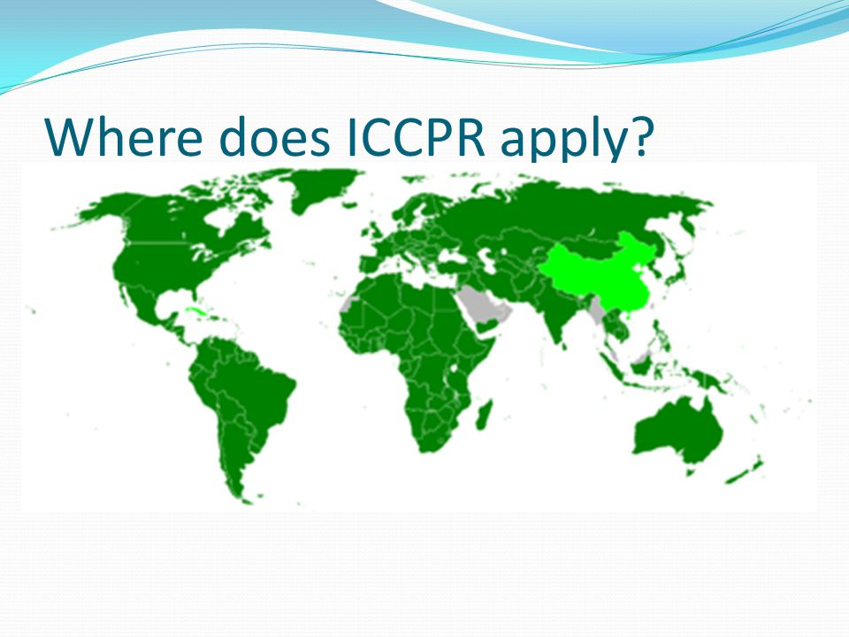 Where does ICCPR apply