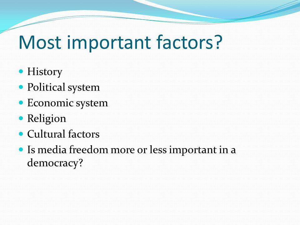 Most important factors.