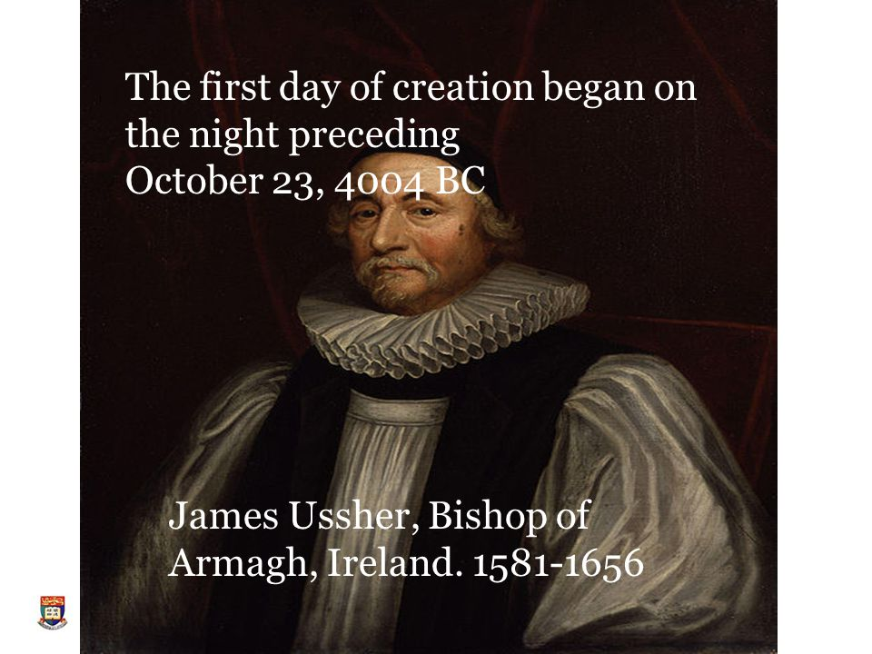 James Ussher, Bishop of Armagh, Ireland.